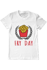 Sapca personalizata Fry Day Alb