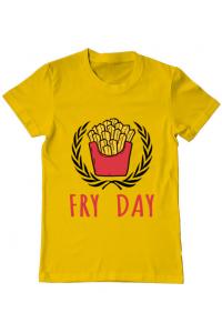 Sacosa din panza Fry Day Galben