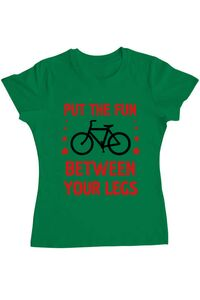 Tricou ADLER barbat Put the fun Between your legs Verde mediu