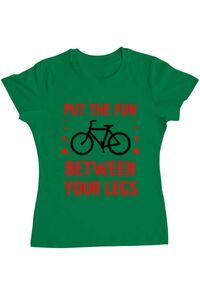 Tricou ADLER copil Put the fun Between your legs Verde mediu