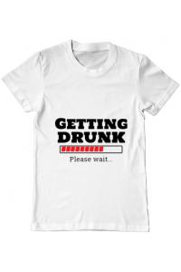 Tricou ADLER copil Getting drunk Alb