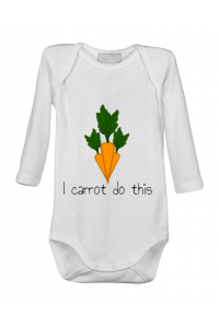 Tricou ADLER barbat I carrot do this Alb