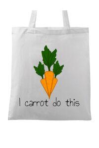 Masca personalizata reutilizabila I carrot do this Alb