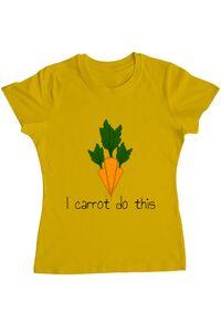 Sacosa din panza I carrot do this Galben