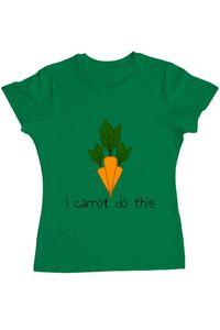 Tricou ADLER copil I carrot do this Verde mediu