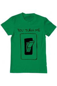 Tricou ADLER copil You turn me on Verde mediu