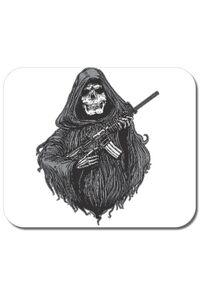Tricou ADLER copil Grim and gun Alb