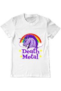 Perna personalizata Death Metal Alb
