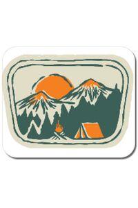Tricou ADLER copil Camping badge Alb