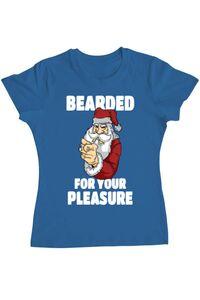 Tricou ADLER barbat Bearded for your pleasure Albastru azuriu