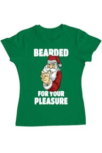 Tricou ADLER copil Bearded for your pleasure Verde mediu