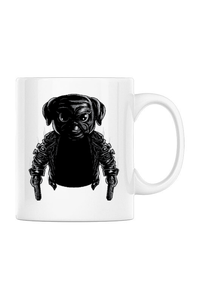 Tricou ADLER copil Pug Dog Assassin Alb