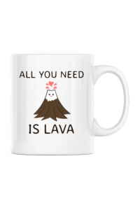 Tricou ADLER copil All you need is lava Alb