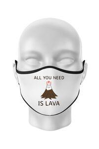 Hoodie barbat cu gluga All you need is lava Alb
