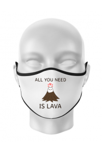 Cana personalizata All you need is lava Alb