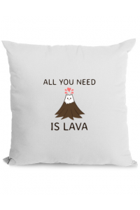 Mousepad personalizat All you need is lava Alb