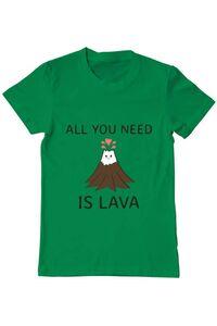 Tricou ADLER copil All you need is lava Verde mediu
