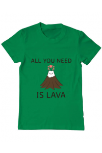 Tricou ADLER copil All you need is lava Verde mediu