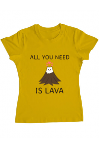 Sacosa din panza All you need is lava Galben