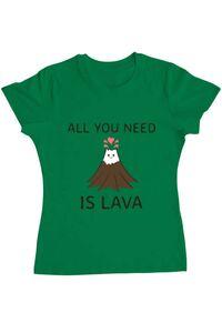 Tricou ADLER barbat All you need is lava Verde mediu