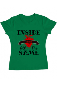 Tricou ADLER barbat Inside we're all the same Verde mediu