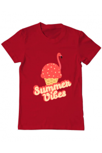 Sacosa din panza Summer Vibes Rosu