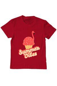 Tricou ADLER barbat Summer Vibes Rosu