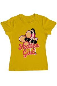 Sacosa din panza Skater Girl Galben