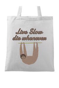 Perna personalizata Live slow, die whenever Alb