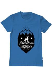 Tricou ADLER dama Adventure Begins Albastru azuriu