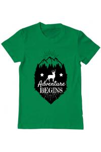 Tricou ADLER dama Adventure Begins Verde mediu