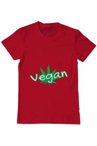 Tricou ADLER dama Vegan Rosu