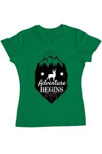 Tricou ADLER copil Adventure Begins Verde mediu