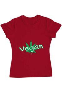 Tricou ADLER barbat Vegan Rosu