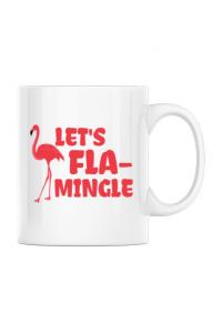 Hoodie barbat cu gluga Let's flamingle Alb