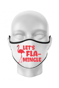 Cana personalizata Let's flamingle Alb