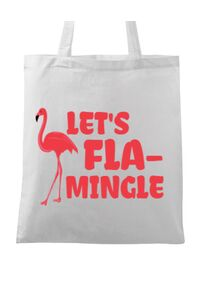 Masca personalizata reutilizabila Let's flamingle Alb
