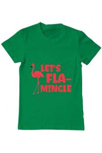 Tricou ADLER dama Let's flamingle Verde mediu