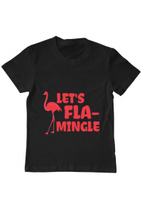 Tricou ADLER dama Let's flamingle Negru