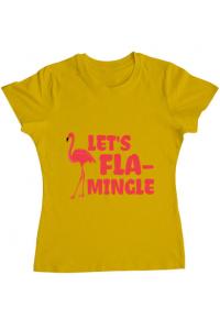 Sacosa din panza Let's flamingle Galben