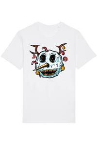 Tricou ADLER copil Monster snowman head Alb