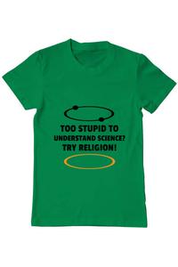 Tricou ADLER copil Try religion Verde mediu