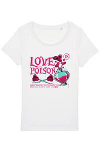 Tricou ADLER copil Love poison with roses Alb