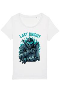 Tricou ADLER copil Knight warrior Alb