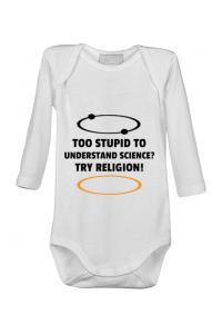 Tricou ADLER copil Try religion Alb