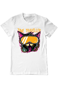 Tricou ADLER copil Time Traveller Alb