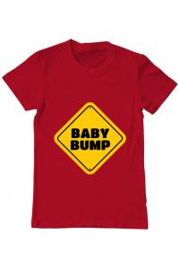 Tricou ADLER dama Baby bump Rosu