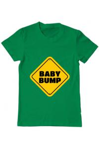 Tricou ADLER copil Baby bump Verde mediu