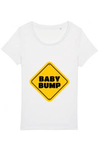 Perna personalizata Baby bump Alb