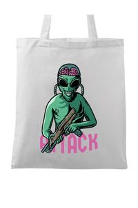 Tricou ADLER copil Alien attack Alb